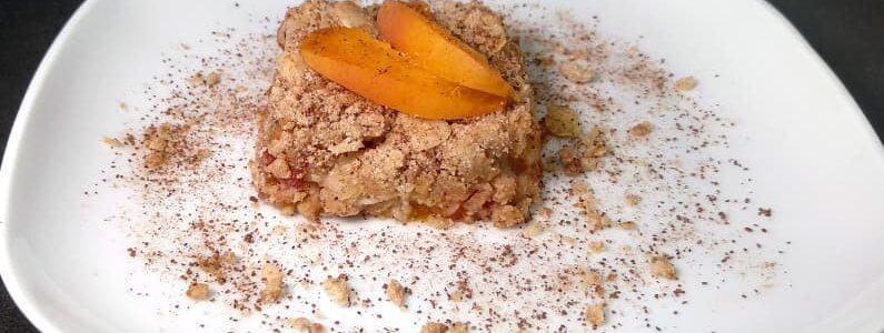 Švestkovo meruňkový crumble